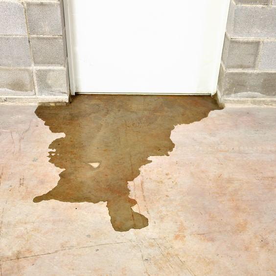 backflow under door