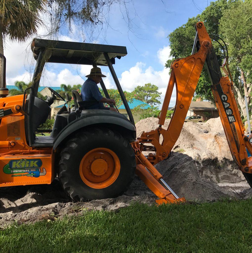 krk installing a drainfield