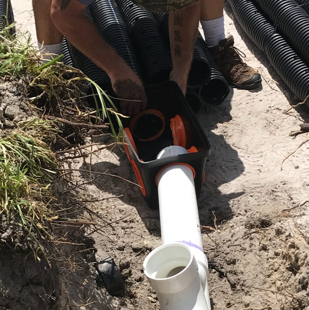 installing a drainfield