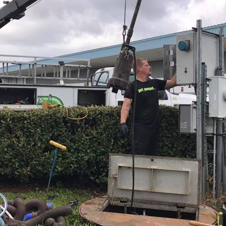 a sewer lift station being assessed