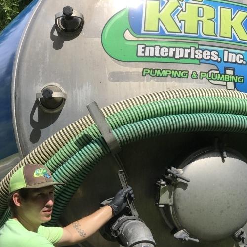 A KRK Enterprises Vacuum Truck